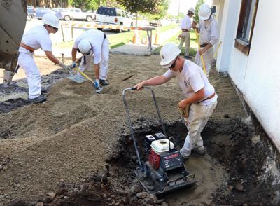 Trapper Creek Job Corps helps restore Hamilton's American Legion building