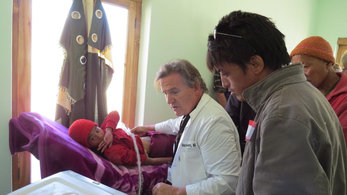 Ultrasound in use at Zanskar hospital