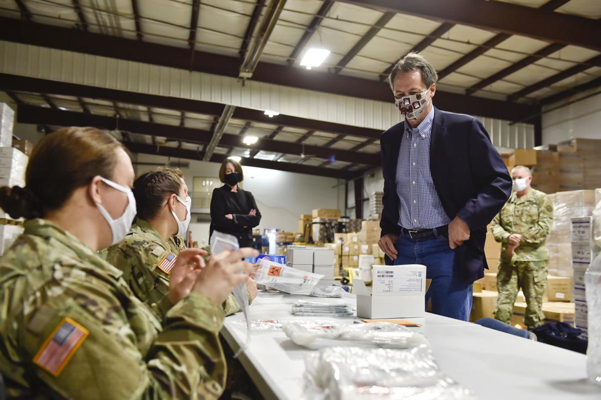 Gov. Steve Bullock tours Montana's commodities warehouse Tuesday