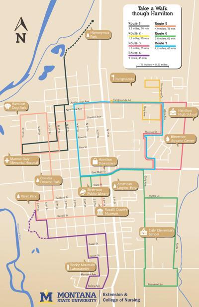 Hamilton walking map