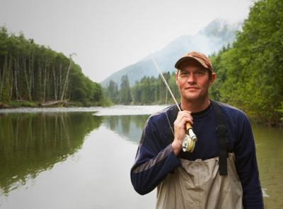 fisherman wearing waders
