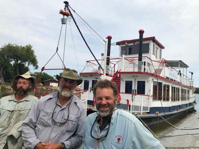We toured The Sunset, the only functional paddlewheel boat still operating on the Missouri.