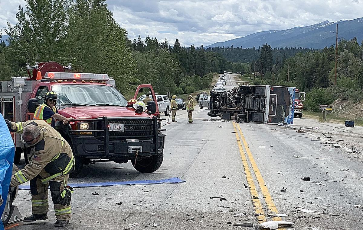 Two crashes Sunday close Highway 93 for four hours