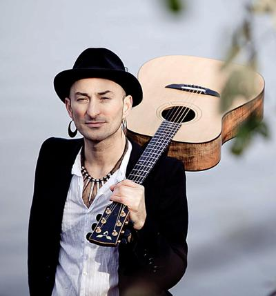 Rafe Pearlman  with guitar