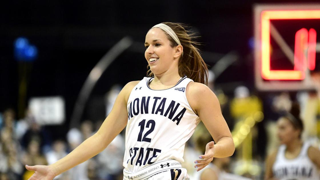 All smiles: Montana State women celebrate share of Big Sky Conference title with win over Montana