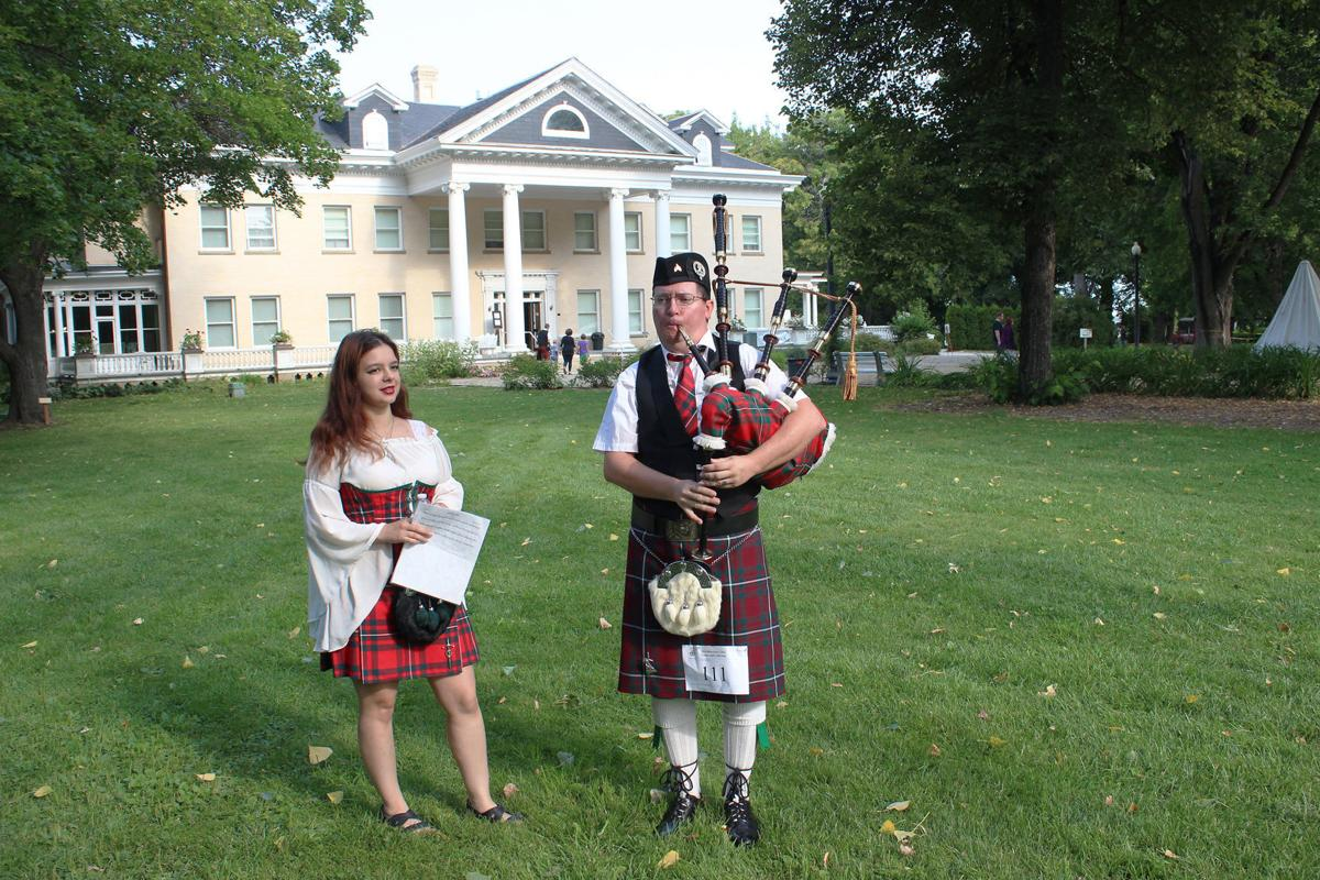 Celtic for 2019 Bagpiper in front of Daly Mansion
