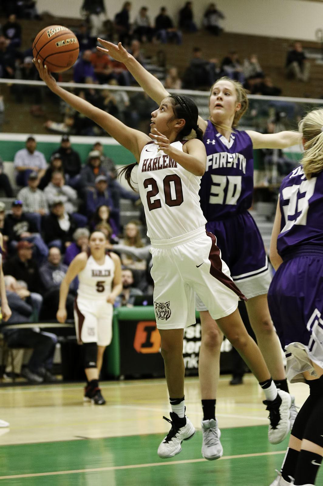 State B girls basketball: Harlem vs. Forsyth
