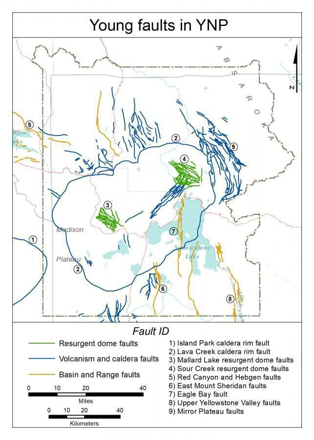 Map of faults