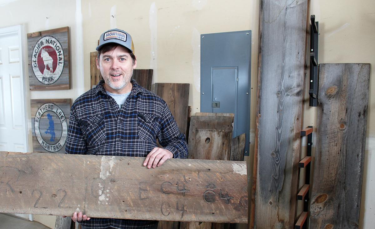 Salvage Signs Jeff in shop