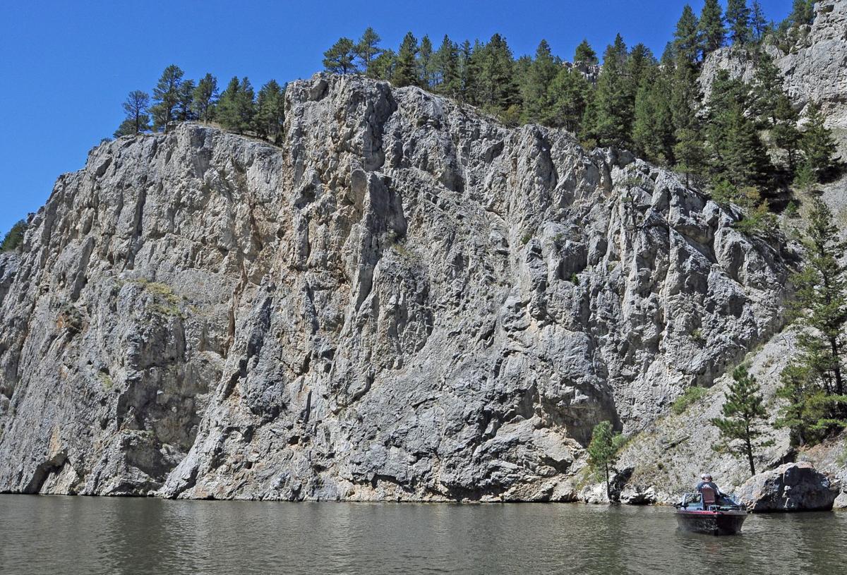 Imposing cliffs