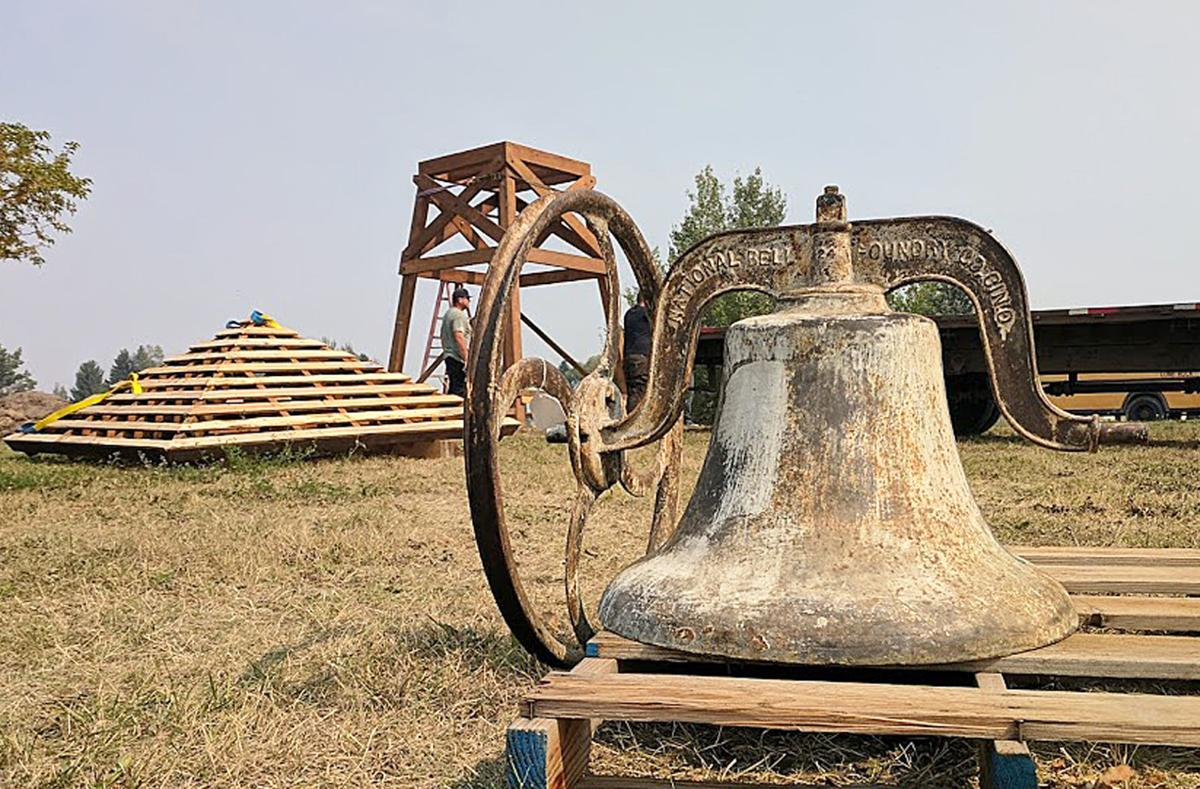 Lone Rock bell before installation