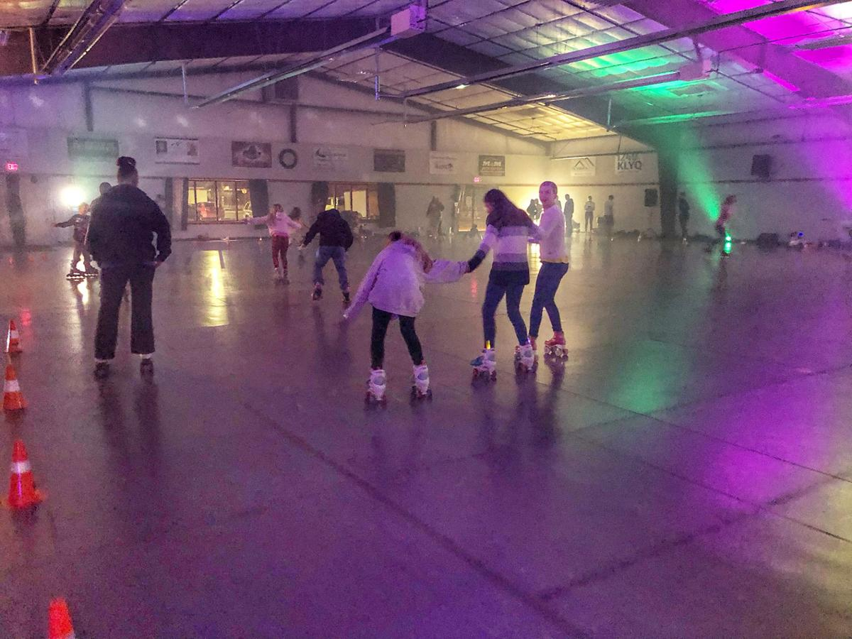 Free roller skating at the fairgrounds