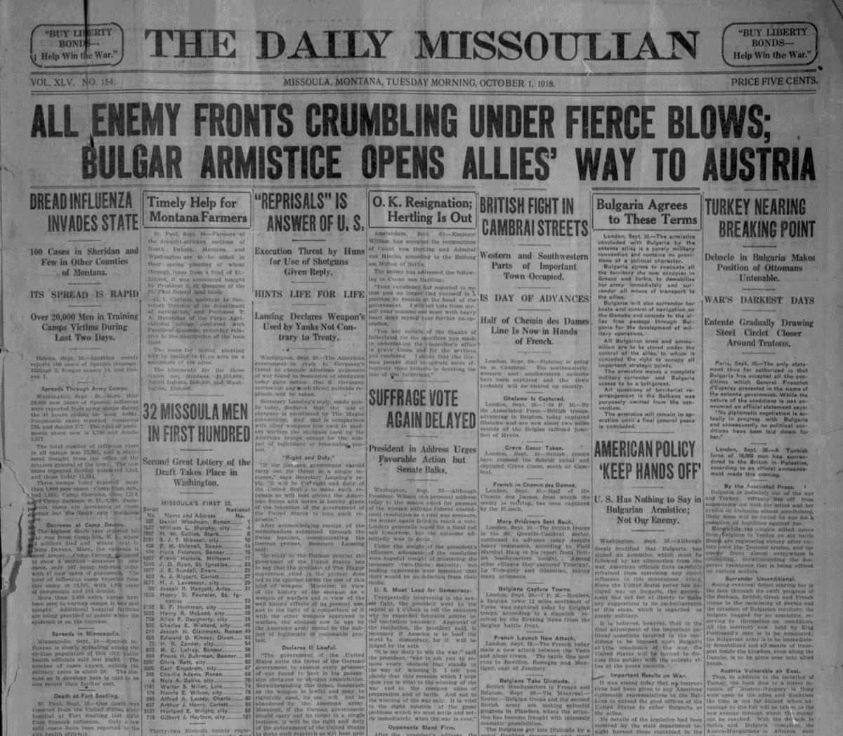 Flu Oct. 1st, 1918
