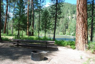 Bitterroot National Forest campground