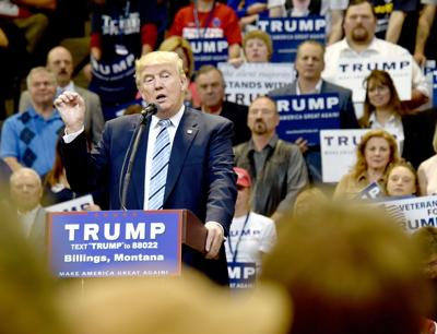 Donald Trump visits Billings