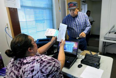 Dulcie Bear Don't Walk, election administrator for Big Horn Coun
