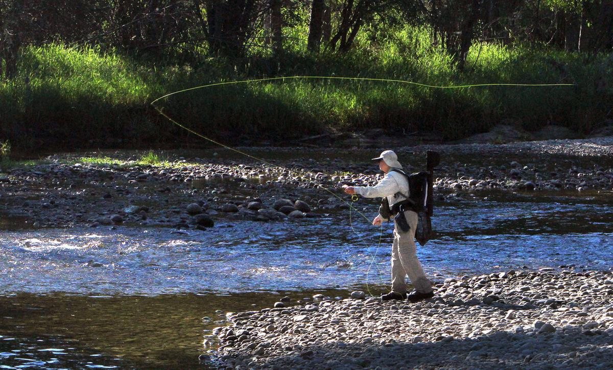 Fly fishing on the Bitterroot River