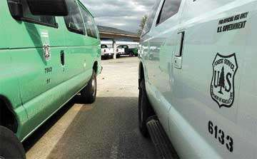 It's not easy being green Forest Service finding rigs tougher to come by in traditional color