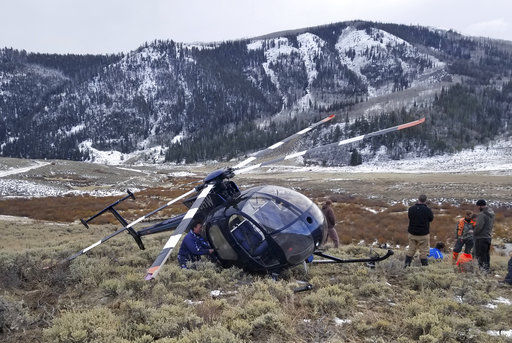 Leaping elk crashes low-flying research helicopter in Utah