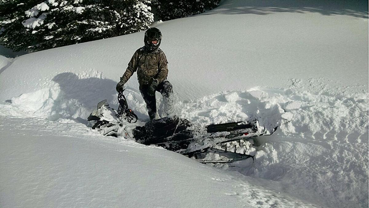 Snowmobile Bob predicament