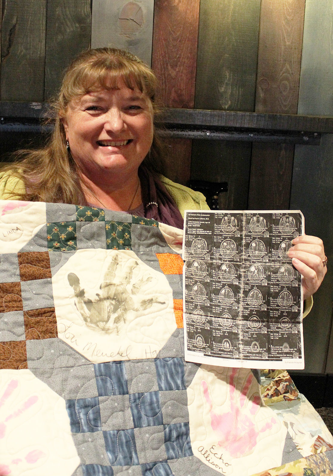 Colors Lori with MRI and quilt 2