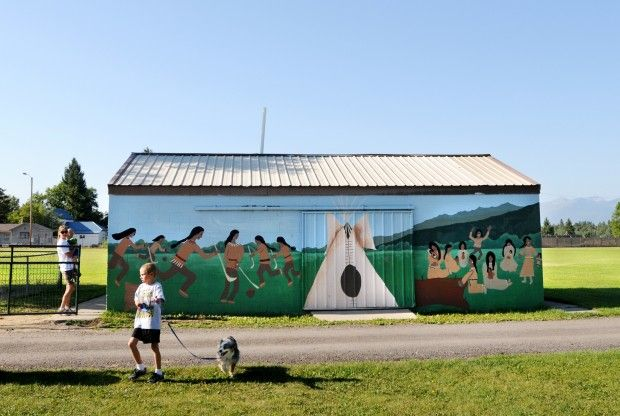 A mural at Lewis and Clark Park