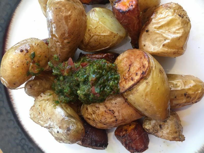 Potatoes and chimichurri