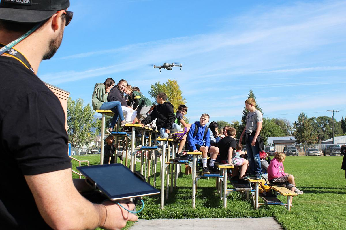 Victor launches robotics class with drone demonstration