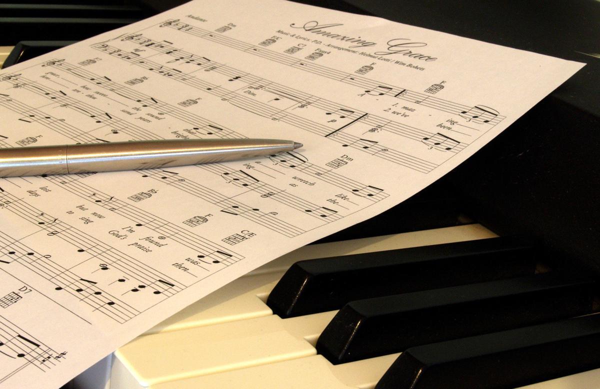 sheet music, amazing grace