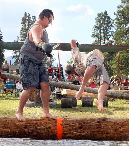Duking it out: Competitors take part in variety of events at Darby Logger Days
