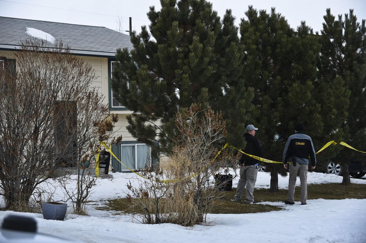 Investigators work the scene of an officer-involved shooting that left the suspect dead in East Helena just before midnight Thursday.