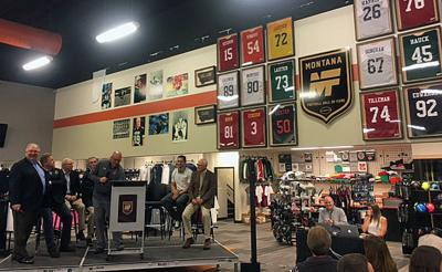 The unveiling of the Montana Football Hall of Fame