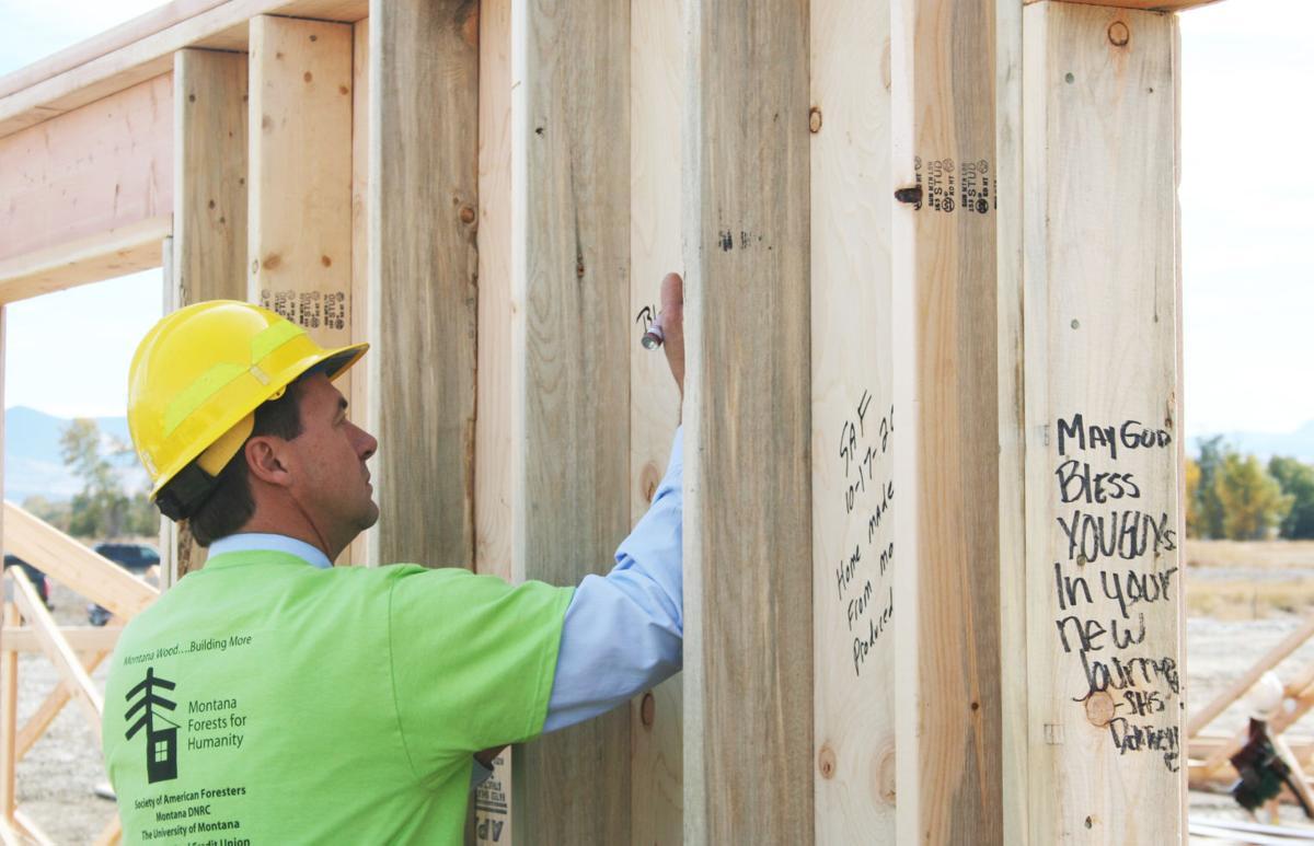Blitz build: Gov. Bullock stops in at Habitat for Humanity project in Stevensville