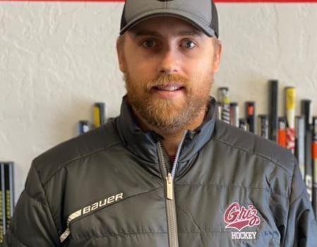 Tucker Sargent in Griz hockey coat