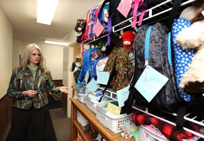 Backpacks and clothing at CFS office