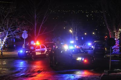 Police respond to the scene