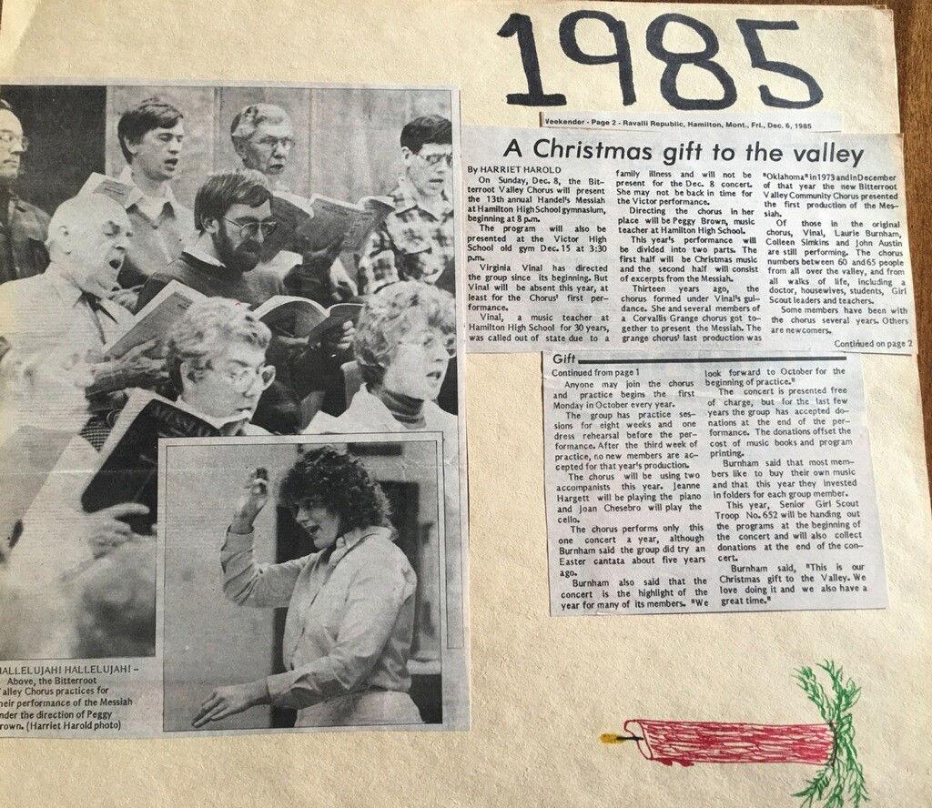 Bitterrroot Commjnity Christmas Concert 2020 Bitterroot Valley Chorus to perform concert celebrating 44 years