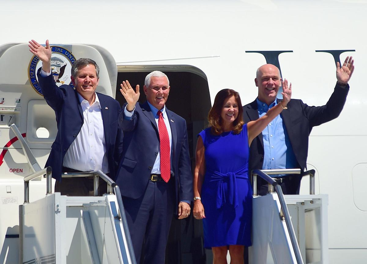 Pence arrival