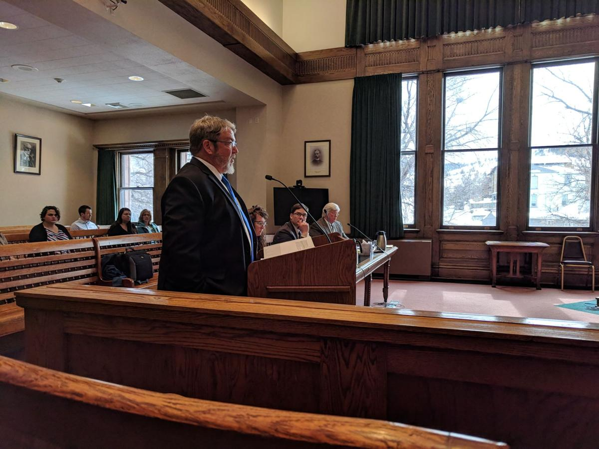 Rob Cameron argues in front of Judge Mike Menahan