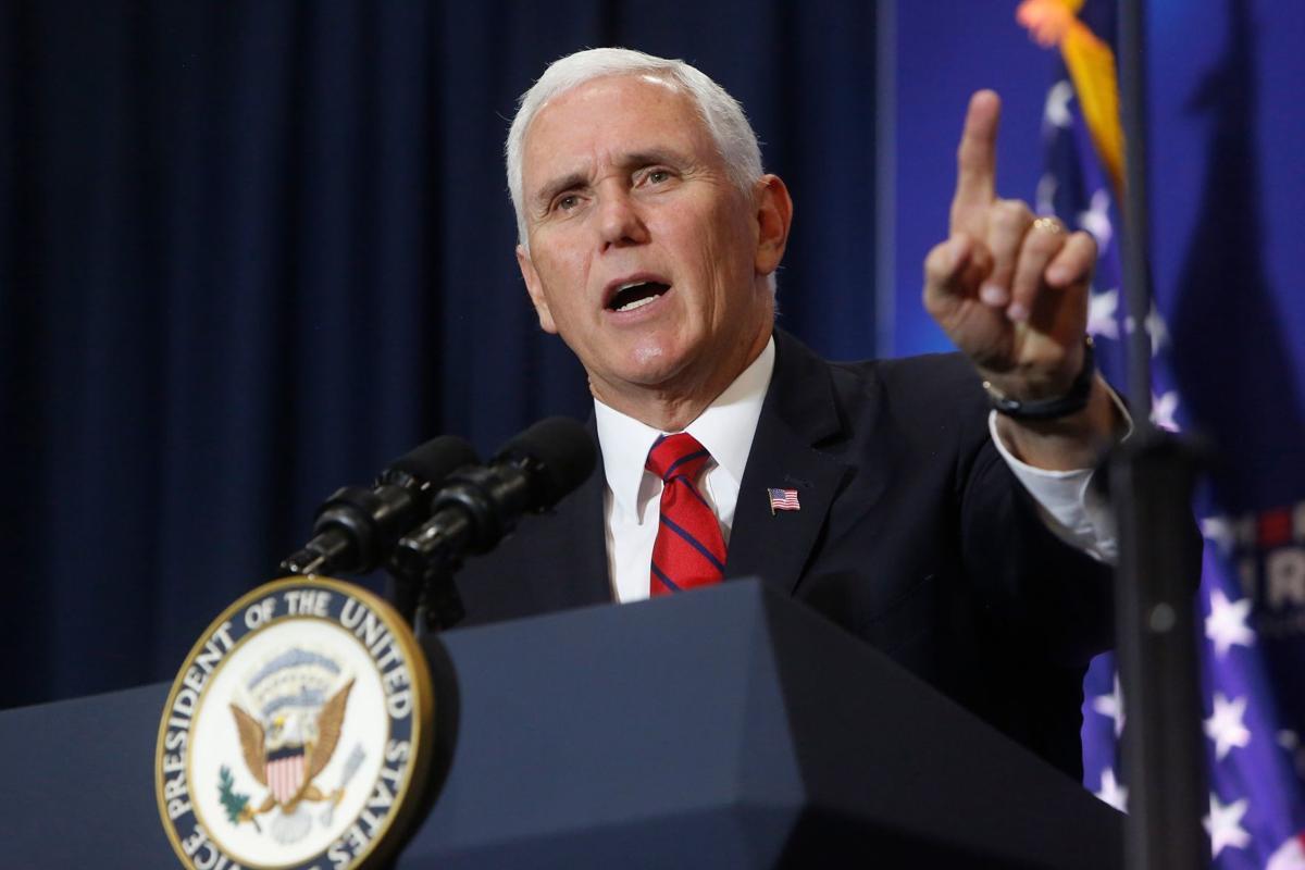 Vice President Mike Pence speaks at MetraPark