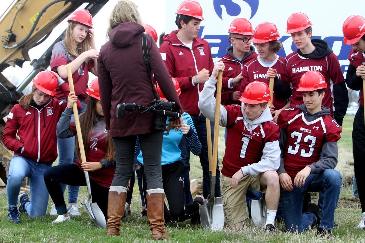 Hamilton High School sports complex groundbreaking
