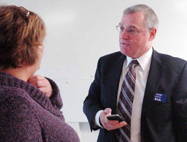 Campaign stop: Candidate Rick Hill visits with Ravalli County commissioners