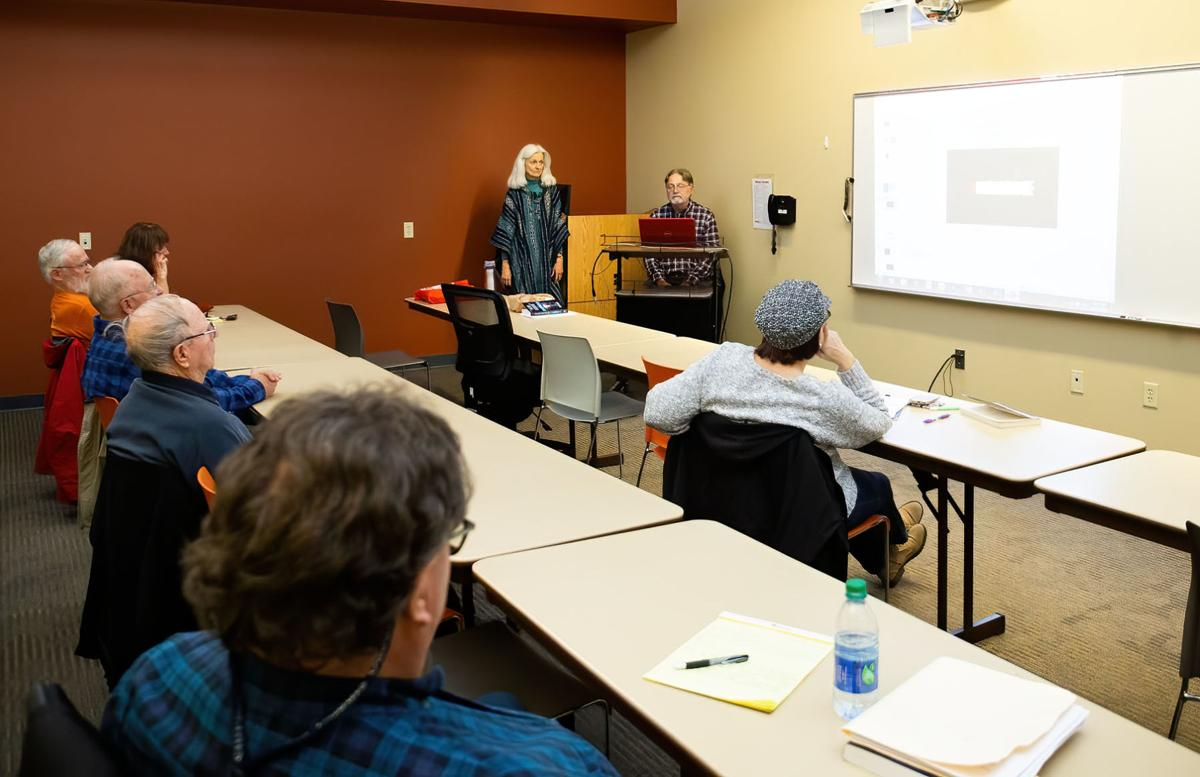 Dr. Richard O'Connor and Dr. Joan Bird teach a continuing education course