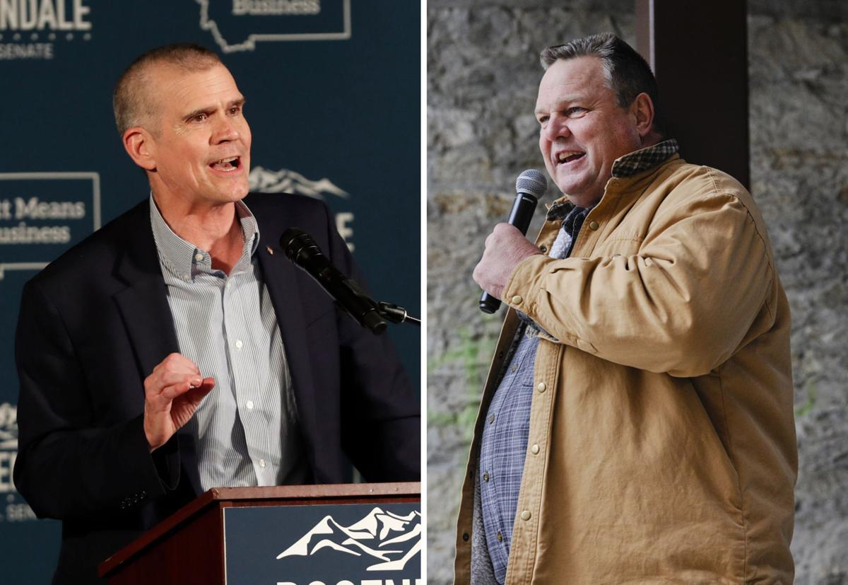 Republican state Auditor Matt Rosendale, left, and Democrat U.S. Sen. Jon Tester