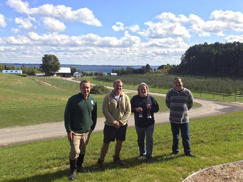 suttons bay brothers open farm to glass cider and wine business