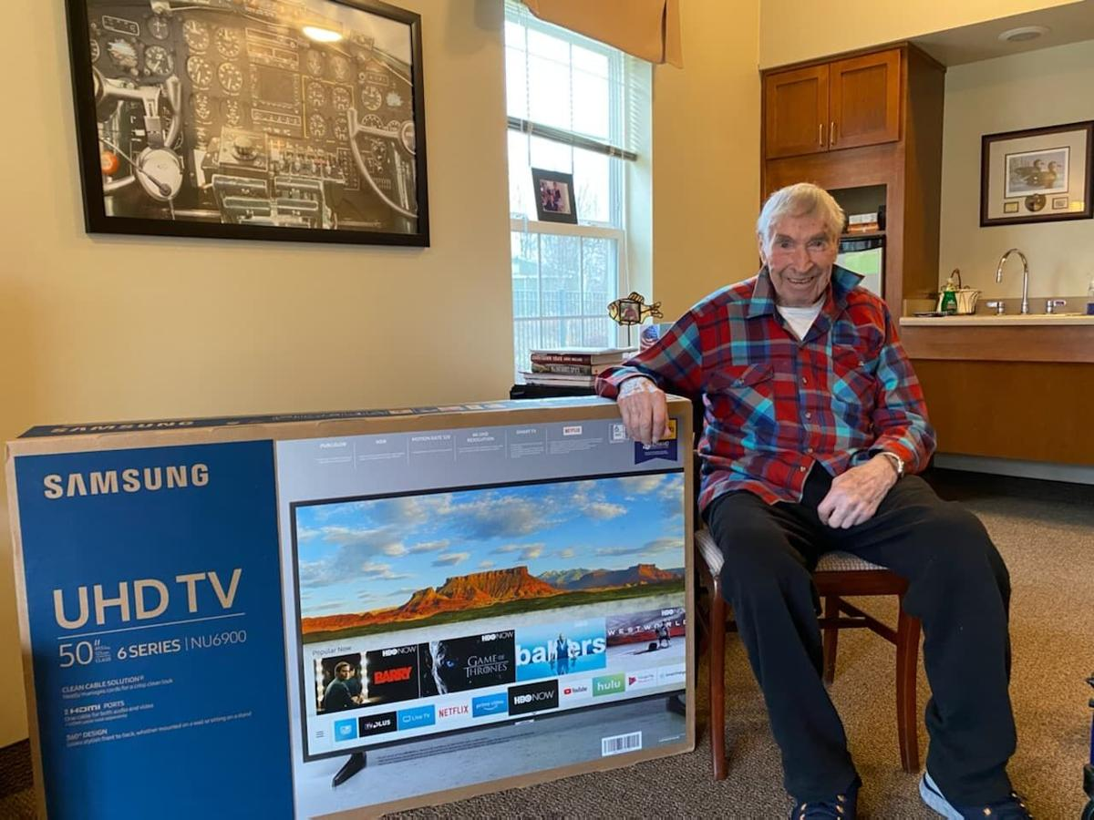 Dad with TV