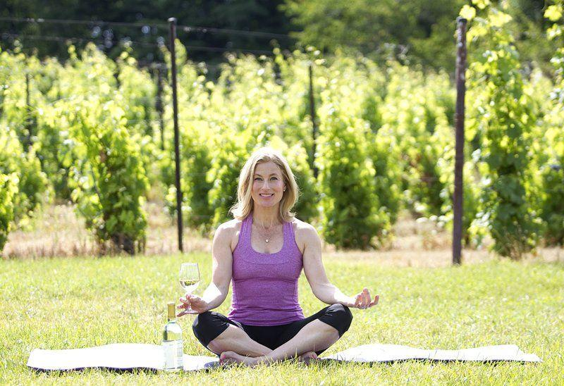 Wine and yoga blend at area vineyards