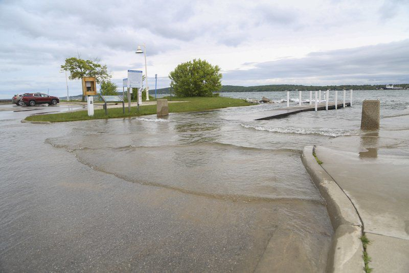 High water pushes ashore