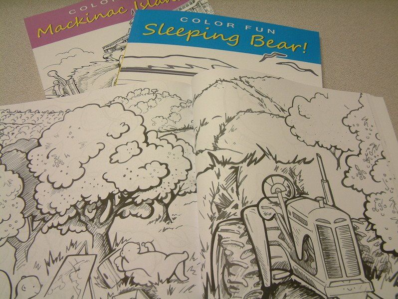 Artist Cher Charests New Coloring And Sketch Book Series Featuring Traverse City Sleeping Bear Dunes National Lakeshore Mackinac Island