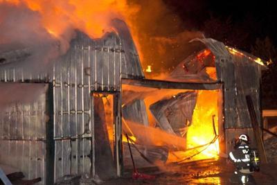 Barn destroyed, farm animals die in fire